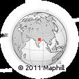 Outline Map of Shahdol, rectangular outline