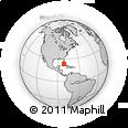 Outline Map of Varadero, rectangular outline