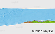 """Physical Panoramic Map of the area around 23°23'16""""N,82°22'30""""W"""