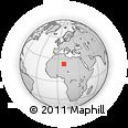 Outline Map of Tiririne, rectangular outline