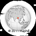 Outline Map of Kawkaman, rectangular outline