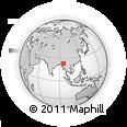 Outline Map of Kanbalu, rectangular outline
