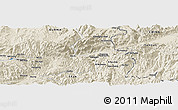 Shaded Relief Panoramic Map of Awsai