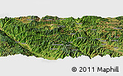 Satellite Panoramic Map of Longwu