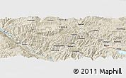 Shaded Relief Panoramic Map of Longwu