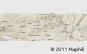 Shaded Relief Panoramic Map of Lalihei
