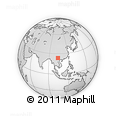 Outline Map of Dajiayi, rectangular outline
