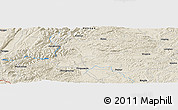 Shaded Relief Panoramic Map of Dajiayi