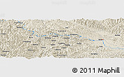 Shaded Relief Panoramic Map of Changlong