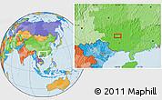Political Location Map of Yalong