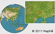 Satellite Location Map of Yalong