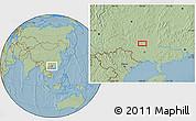 Savanna Style Location Map of Yalong, hill shading