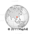 Outline Map of Yalong, rectangular outline