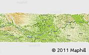 Physical Panoramic Map of Gongchuan