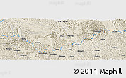 Shaded Relief Panoramic Map of Gongchuan