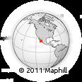 Outline Map of El Teso, rectangular outline