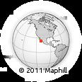 Outline Map of Los Planes, rectangular outline