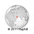 """Outline Map of the Area around 23° 53' 5"""" N, 54° 28' 30"""" E, rectangular outline"""