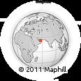 Outline Map of Jabal Hafeet, rectangular outline