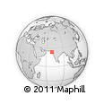 Outline Map of Kutch, rectangular outline