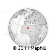 Outline Map of Tamanrasset Province, rectangular outline