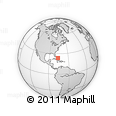 """Outline Map of the Area around 23° 53' 5"""" N, 76° 25' 30"""" W, rectangular outline"""