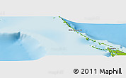 """Physical Panoramic Map of the area around 23°53'5""""N,76°25'30""""W"""