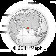 Outline Map of Garha Kalān, rectangular outline