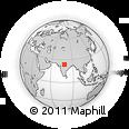 Outline Map of Madhya Pradesh, rectangular outline