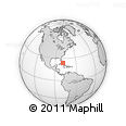 """Outline Map of the Area around 23° 53' 5"""" N, 78° 58' 29"""" W, rectangular outline"""