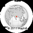 Outline Map of Katni, rectangular outline