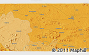 Political 3D Map of Hesālong