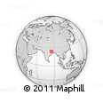 Outline Map of Hesālong, rectangular outline