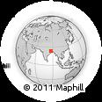 Outline Map of Burnpur, rectangular outline