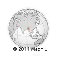 Outline Map of Mawlaik, rectangular outline