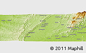 """Physical Panoramic Map of the area around 23°53'5""""N,95°16'30""""E"""