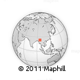 Outline Map of Thayetkon, rectangular outline