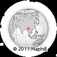 Outline Map of Namhkan, rectangular outline