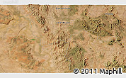 """Satellite 3D Map of the area around 23°3'19""""S,149°40'30""""E"""
