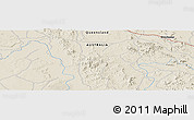 "Shaded Relief Panoramic Map of the area around 23° 3' 19"" S, 149° 40' 30"" E"