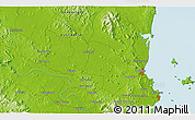 Physical 3D Map of Parkhurst