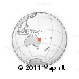 "Outline Map of the Area around 23° 3' 19"" S, 151° 22' 30"" E, rectangular outline"