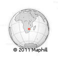 Outline Map of Makhado Local Municipality, rectangular outline