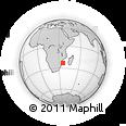 Outline Map of Pomene MSC Beach, rectangular outline