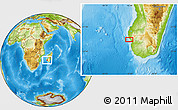 Physical Location Map of Tsinjoriaka
