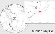 Blank Location Map of Cunhambebe