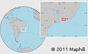 Gray Location Map of Cunhambebe
