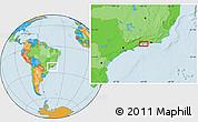 Political Location Map of Cunhambebe