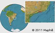 "Satellite Location Map of the area around 23°3'19""S,44°7'30""W"