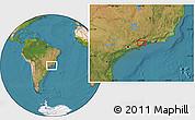 "Satellite Location Map of the area around 23°3'19""S,44°58'30""W"